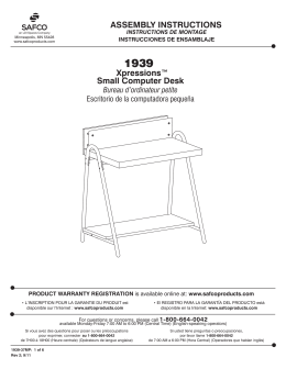 Small Computer Desk ASSEMBLY INSTRUCTIONS
