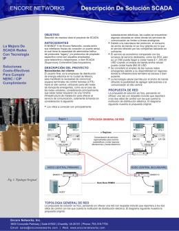 Descripción De Solución SCADA