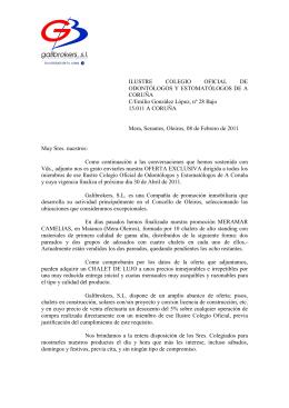oferta - Ilustre Colegio de Odontólogos y Estomatólogos de A Coruña
