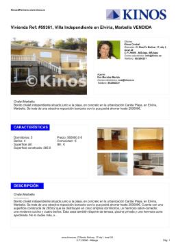 Vivienda Ref: #59361, Villa Independiente en Elviria, Marbella