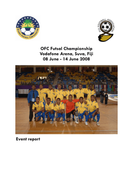 Event Report 2008 - Oceania Football Confederation