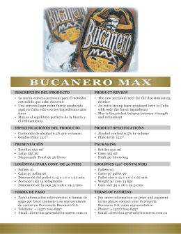 BUCANERO MAX - Cerveceria Bucanero SA