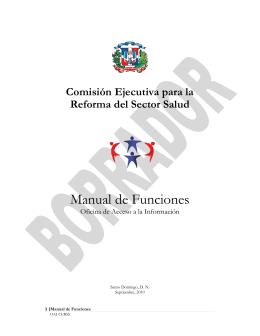Manual de Funciones - OAI-CERSS - Comisión Ejecutiva para la