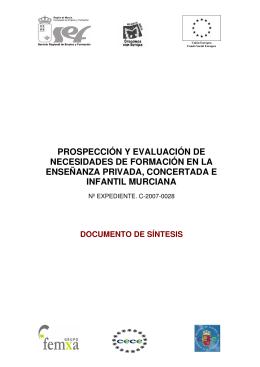 Documento de Síntesis - Comunidad Autónoma de la Región de