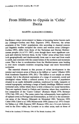 From Hillforts to Oppida in `Celtic` Iberia