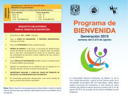 BIENVENIDA Programa de