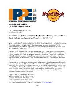 La Exposición Internacional de Producción y Procesamiento y Hard