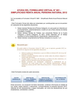 ayuda del formulario virtual n° 681 - simplificado renta anual