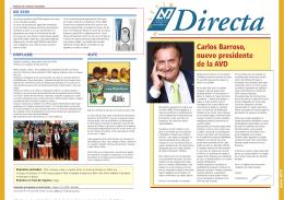 Carlos Barroso, nuevo presidente de la AVD