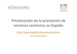 Privatizacion Servicios Sanitarios España