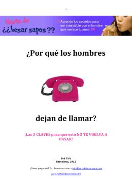 ¿Por qué los hombres dejan de llamar?