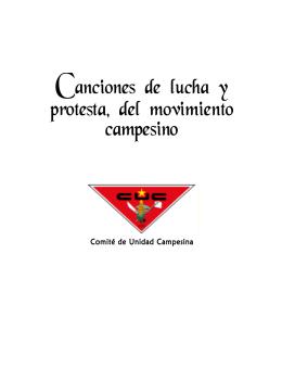 cancionero ULTIMA DIAG.p65 - Comité de Unidad Campesina