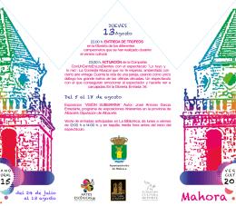 mahora verano cultural 2015