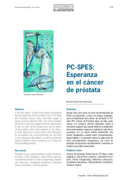 PC-SPES: Esperanza en el cáncer de próstata