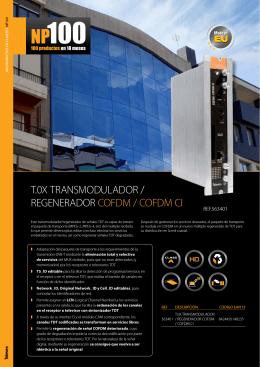 T.0X TRANSMODULADOR / REGENERADOR COFDM