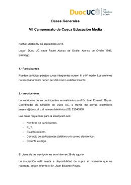Bases Generales VII Campeonato de Cueca Educación