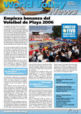Empieza bonanza del Voleibol de Playa 2006