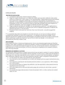 Criterios de Alquiler: PROCESO DE APLICACION
