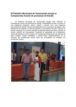 nota karate - Ayuntamiento de Las Palmas de Gran Canaria.
