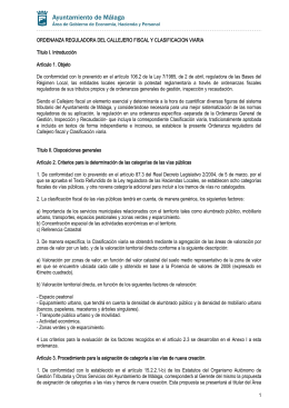 Callejero Fiscal y Clasificacion viaria - Gestrisam