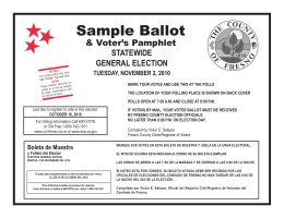 Sample Ballot - Fresno County