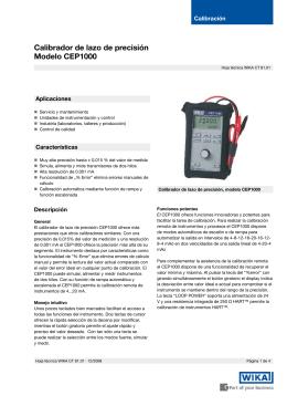 Calibrador de lazo de precisión Modelo CEP1000
