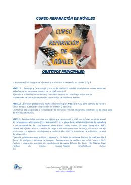 curso reparación de móviles objetivos principales