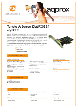 Tarjeta de Sonido 32bit PCI