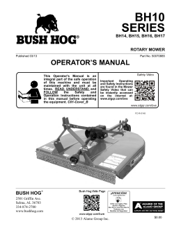 safety - Bush Hog