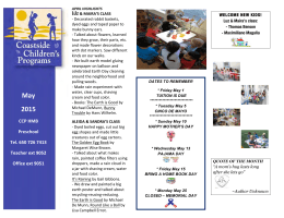CCP Half Moon Bay Preschool May 2015 Newsletter