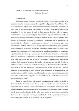 Fronteras, mestizaje y etnogénesis en las Américas. | Boccara