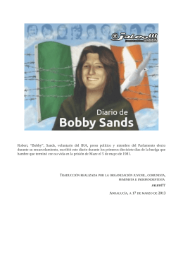 Diario de Bobby Sands - Grupo de Estudios del Sindicato Andaluz