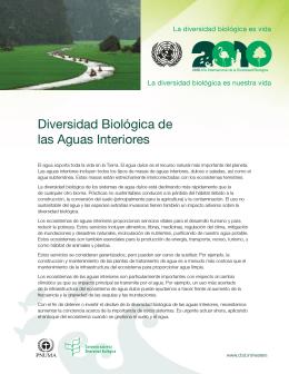 Diversidad Biológica de las Aguas Interiores