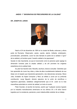"""1 ANEXO 1"""" BIOGRAFIAS DE PRECURSORES DE LA CALIDAD"""
