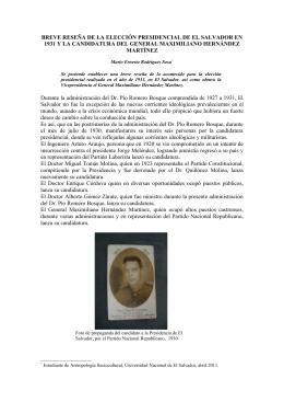 Elecciones presidenciales en 1931, El Salvador