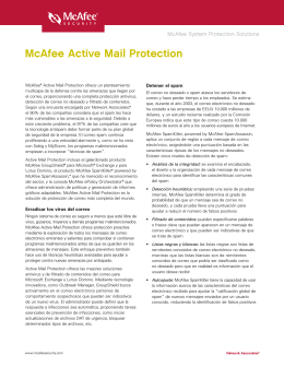 McAfee Active Mail Protection
