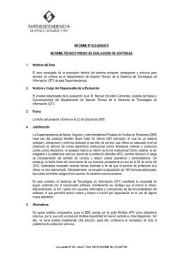 Informe Mensual de Gestión - Superintendencia de Banca y Seguros
