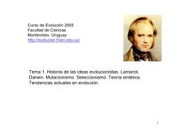 Tema 1. Historia de las ideas evolucionistas. Lamarck