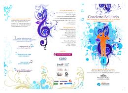 Puede descargar aquí el Programa completo del concierto