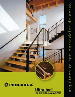 arquitectura con barandales de acero