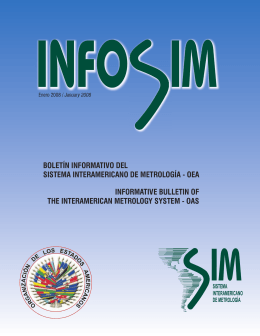 oea informative bulletin of the interamerican metrology system