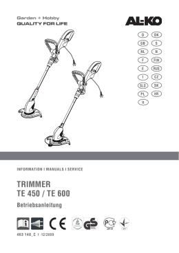 TRimmeR Te 450 / Te 600 - AL-KO