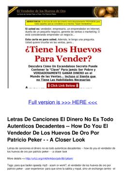 How Do You El Vendedor De Los Huevos De Oro Por Patricio Peker