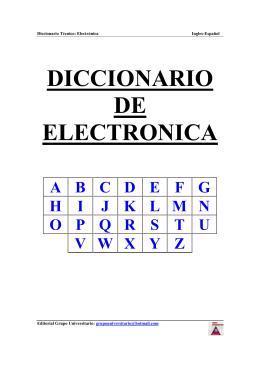 DICCIONARIO DE ELECTRONICA - AERODOCENTES