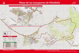 Plano de los transportes de Villalbilla