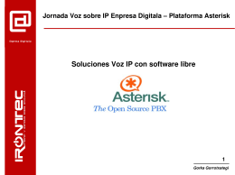 Soluciones Voz IP con software libre