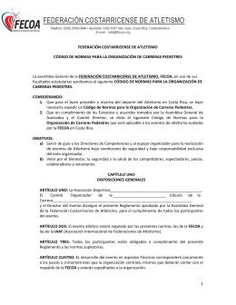 - Federación Costarricense de Atletismo
