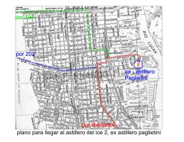 ex - astillero Paglietini plano para llegar al astillero del ice 2, ex