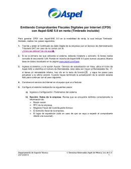 Generación de CFDI con Aspel