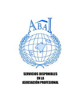 SERVICIOS DISPONIBLES EN LA ASOCIACIÓN PROFESIONAL